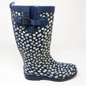 CAPELLI NEW YORK Tall Polka Dot Rain Boot-Size 8